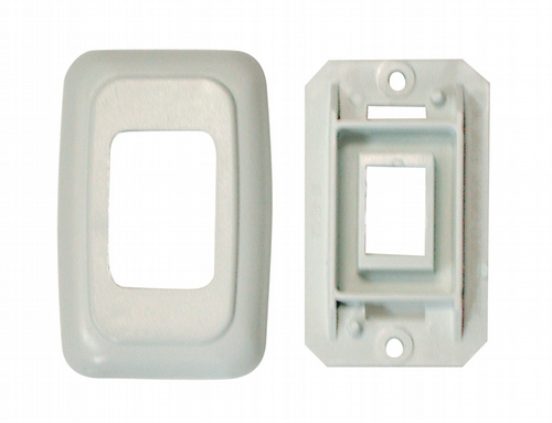Single Base and Plate Contour Wall Plate Assembly - Biscuit