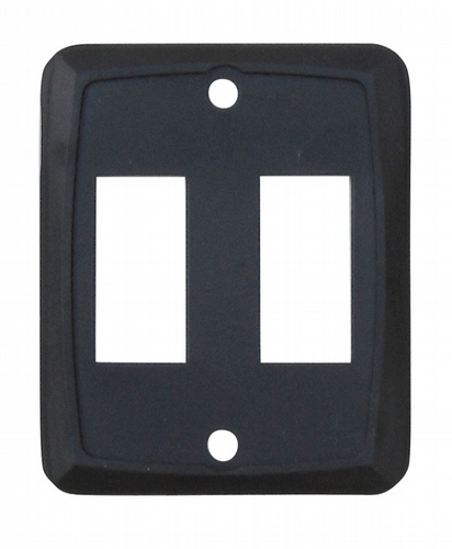 Double Face Plate - Black 3/bag
