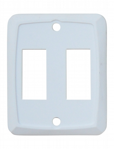 Double Face Plate - White 3/bag