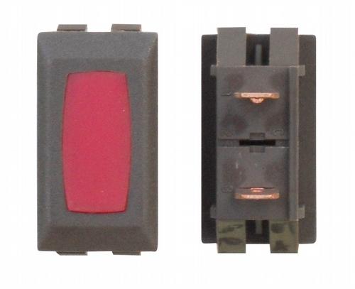 Illuminated Indicator Light - Red/Brown