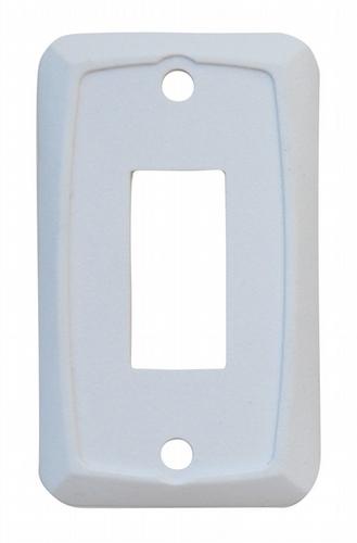 Single Face Plate - White 3/bag