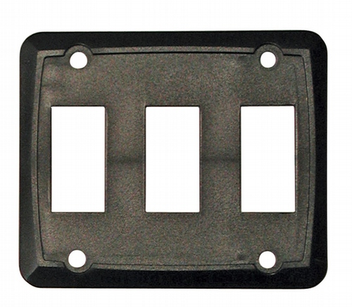 Triple Face Plate - Black 3/bag