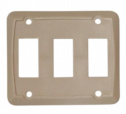 Triple Face Plate - Ivory 3/bag