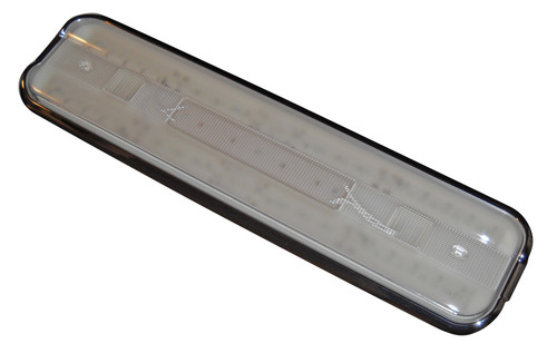 LED Fluorescent Replacement Fixture - 18 Inch Chrome Bezel