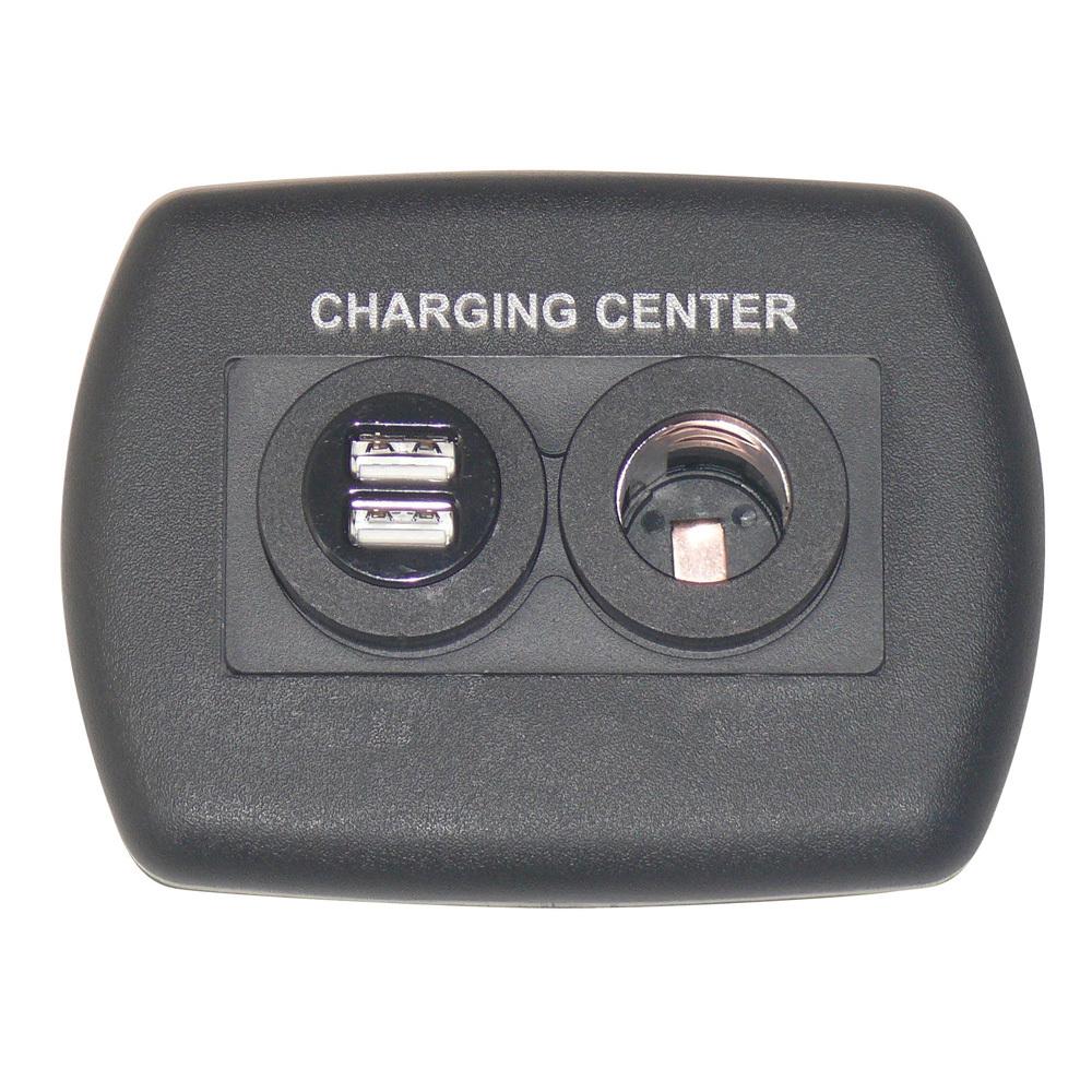 Eurostyle USB Charging Center - Black 61023USB