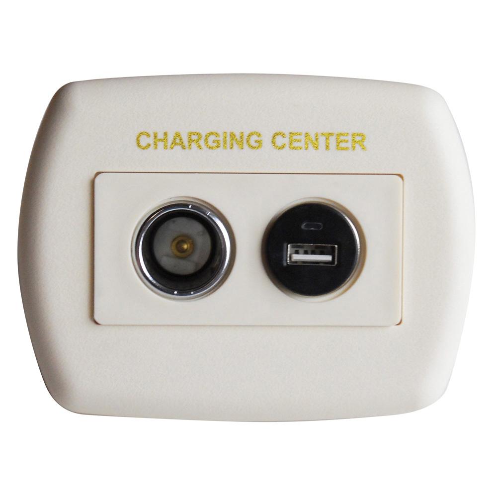 Eurostyle USB Charging Center - Ivory 61025USB
