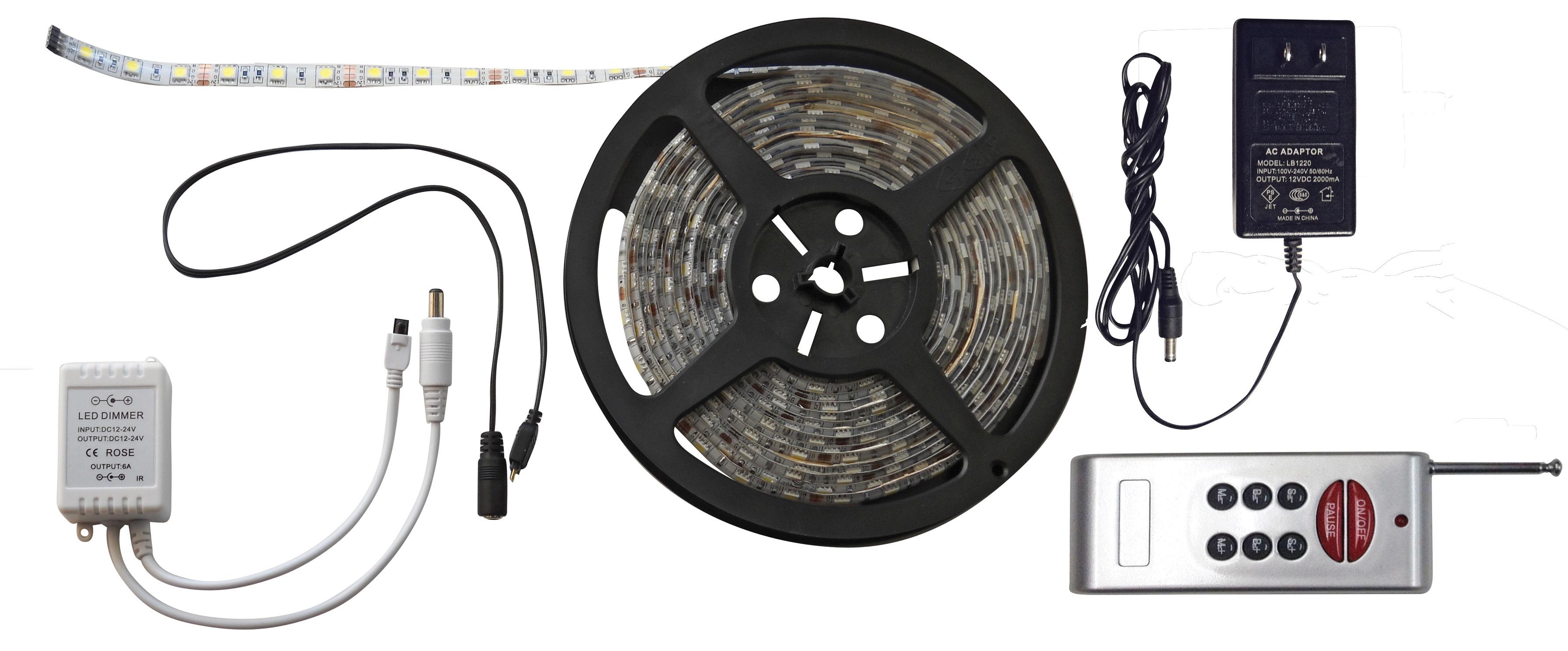 6 Foot RGB LED Strip Light Kit with RF Remote 52687-RF