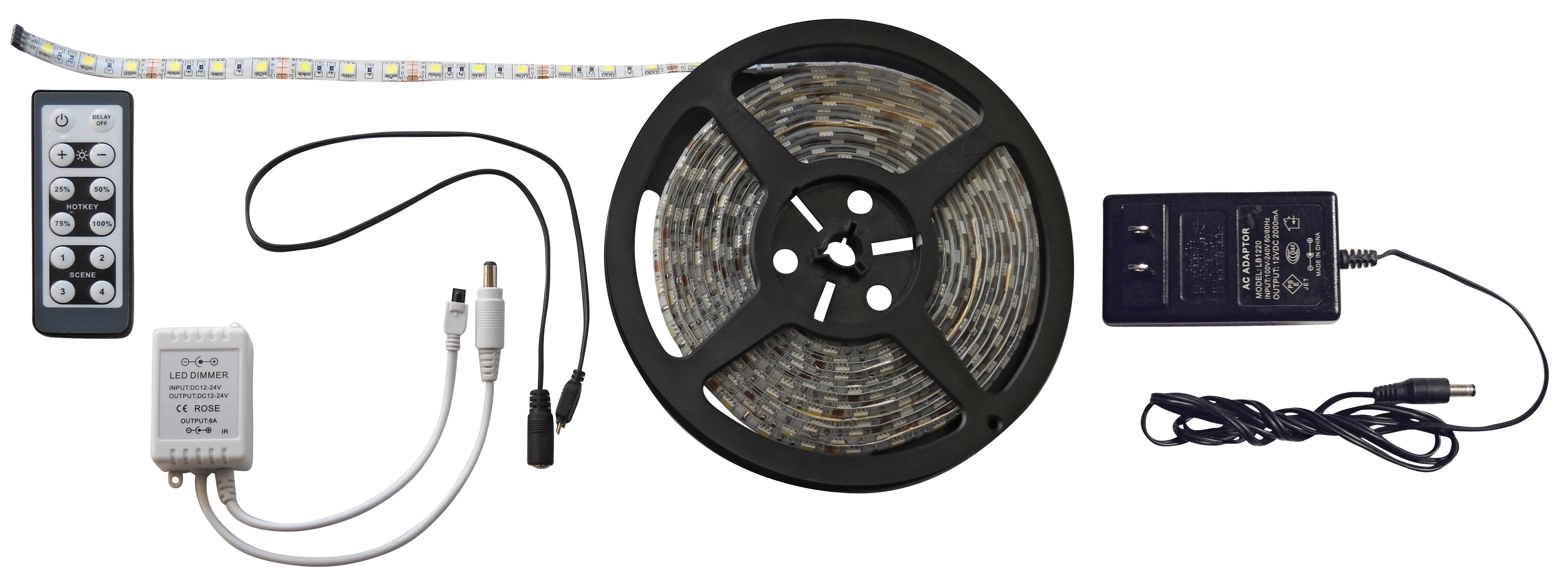 White 16 Foot LED Strip Light Kit 52686