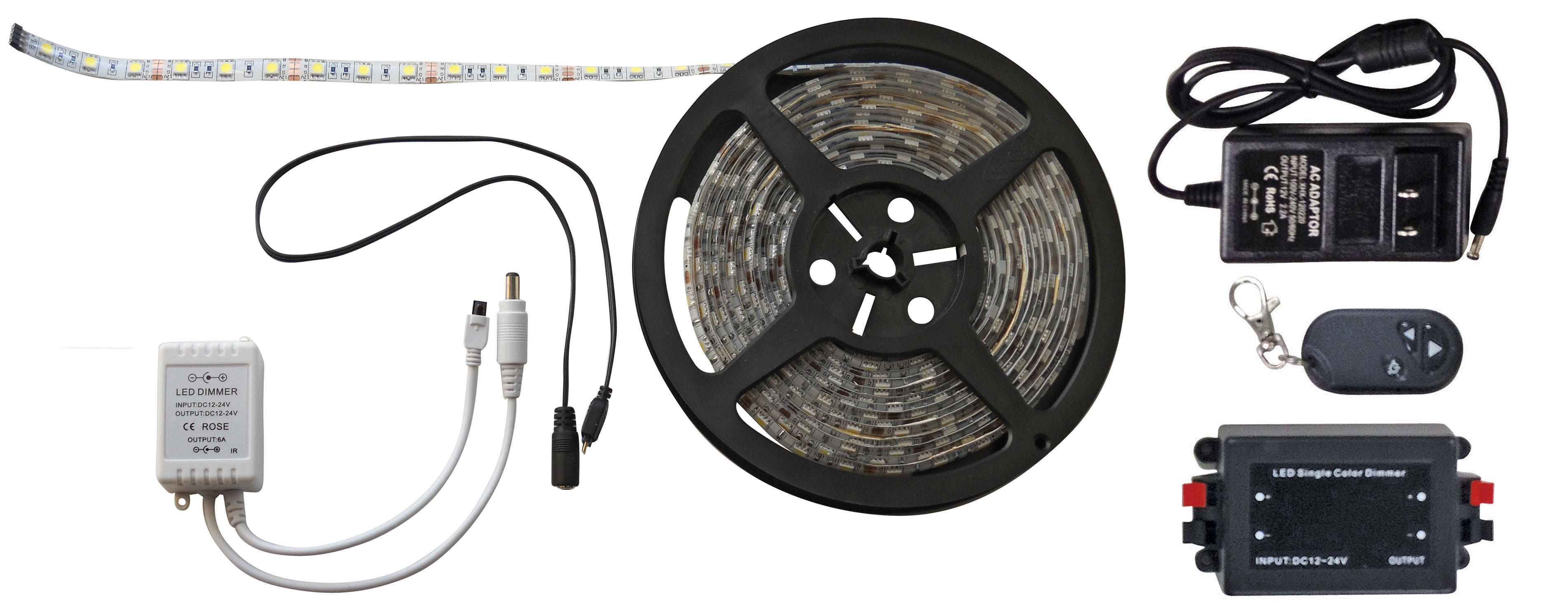 White 16 Foot LED Strip Light  with RF Remote 52686-RF