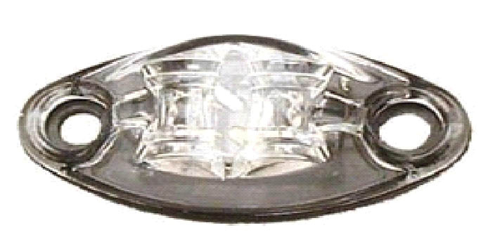 LED Exterior Light - 2 Diode 1 Wire Marker Light Clear/Red 52441
