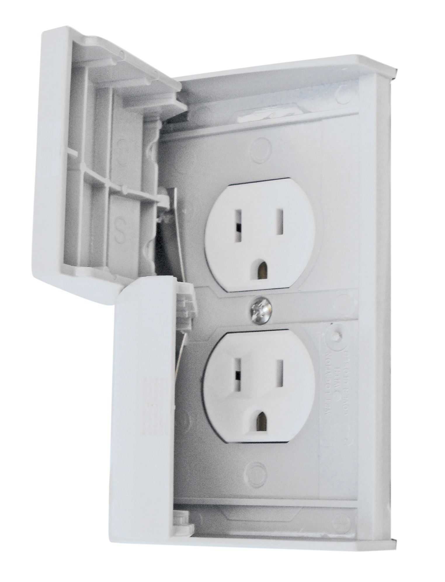 Standard Cover With Receptacle - White 52499SCREC