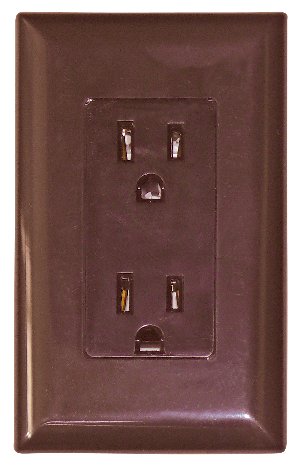 15 Amp Decor Receptacle With Cover - Brown WDR15BR