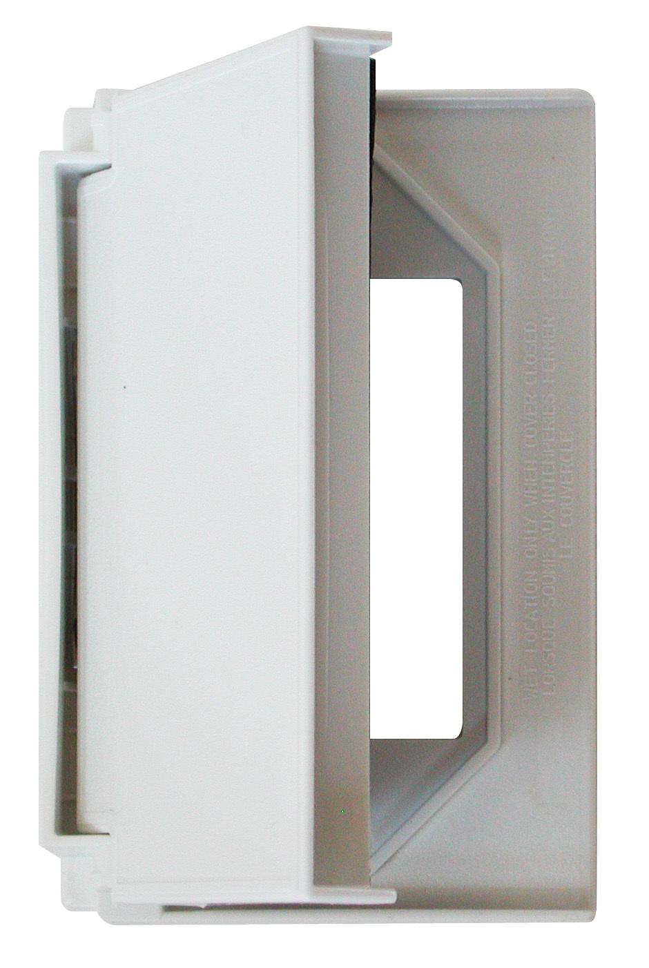 Decor Receptacle Cover - White 52516