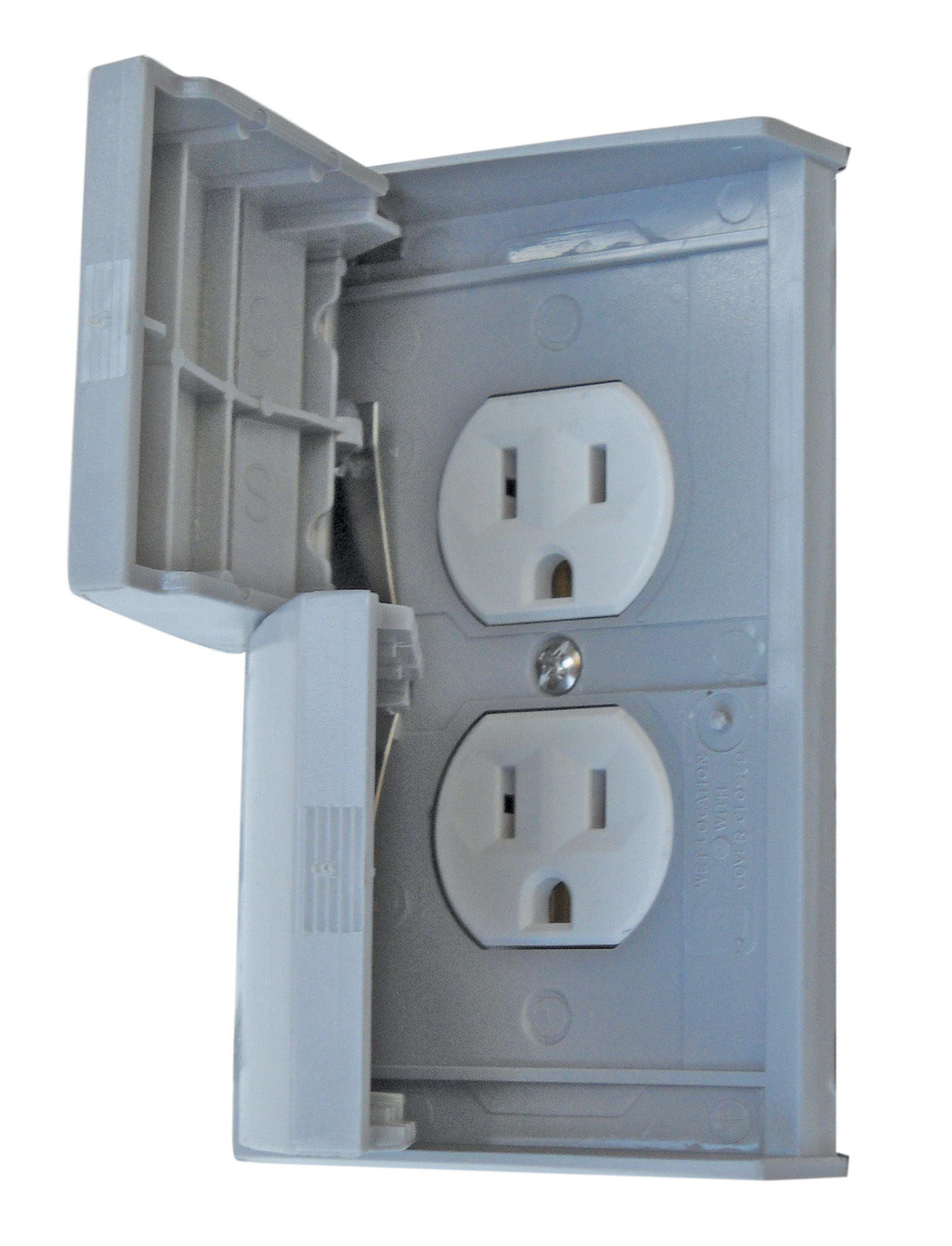 Standard Cover With Receptacle - Grey 3780SCREC