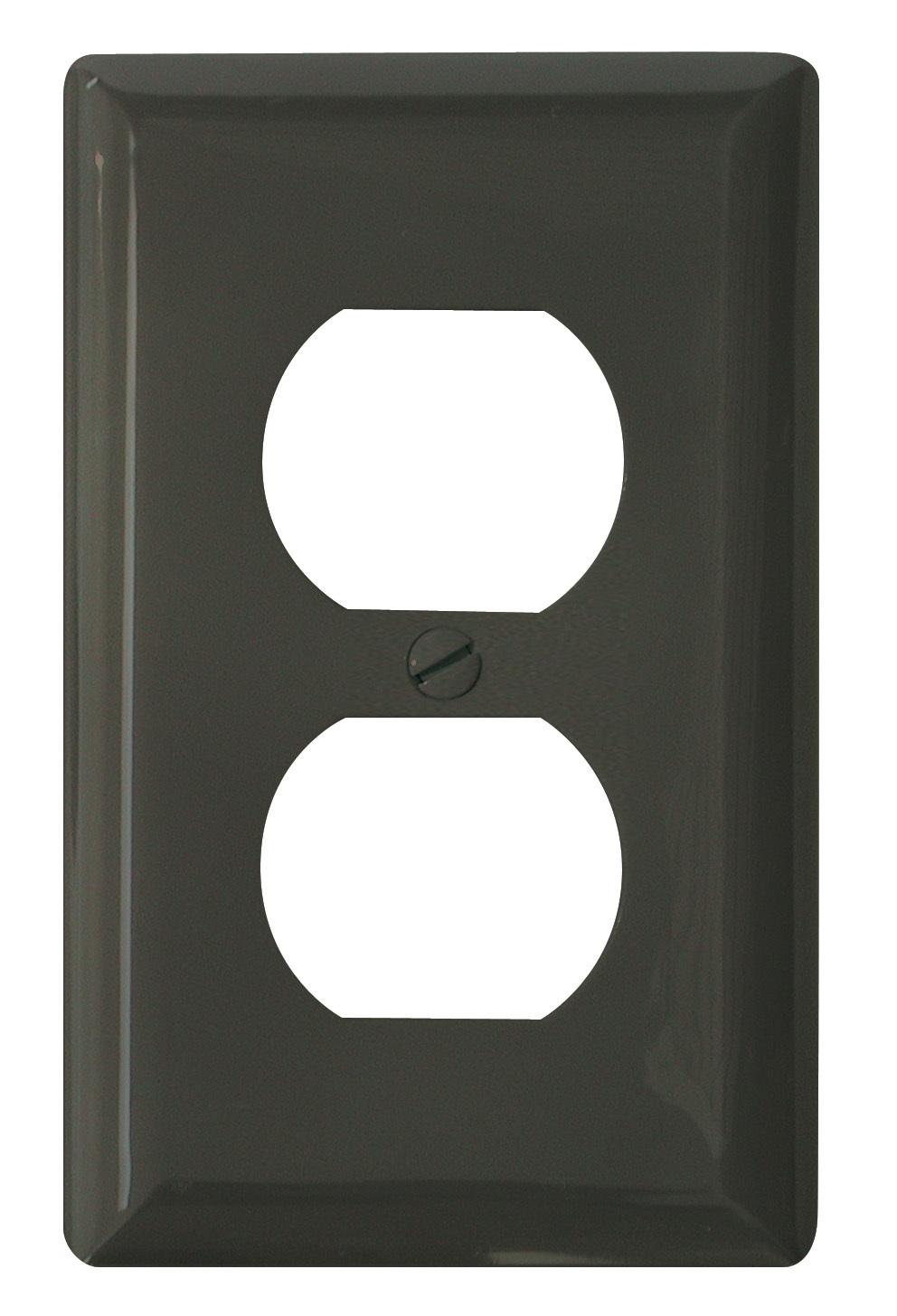 Standard Receptacle Cover - Brown 4132B