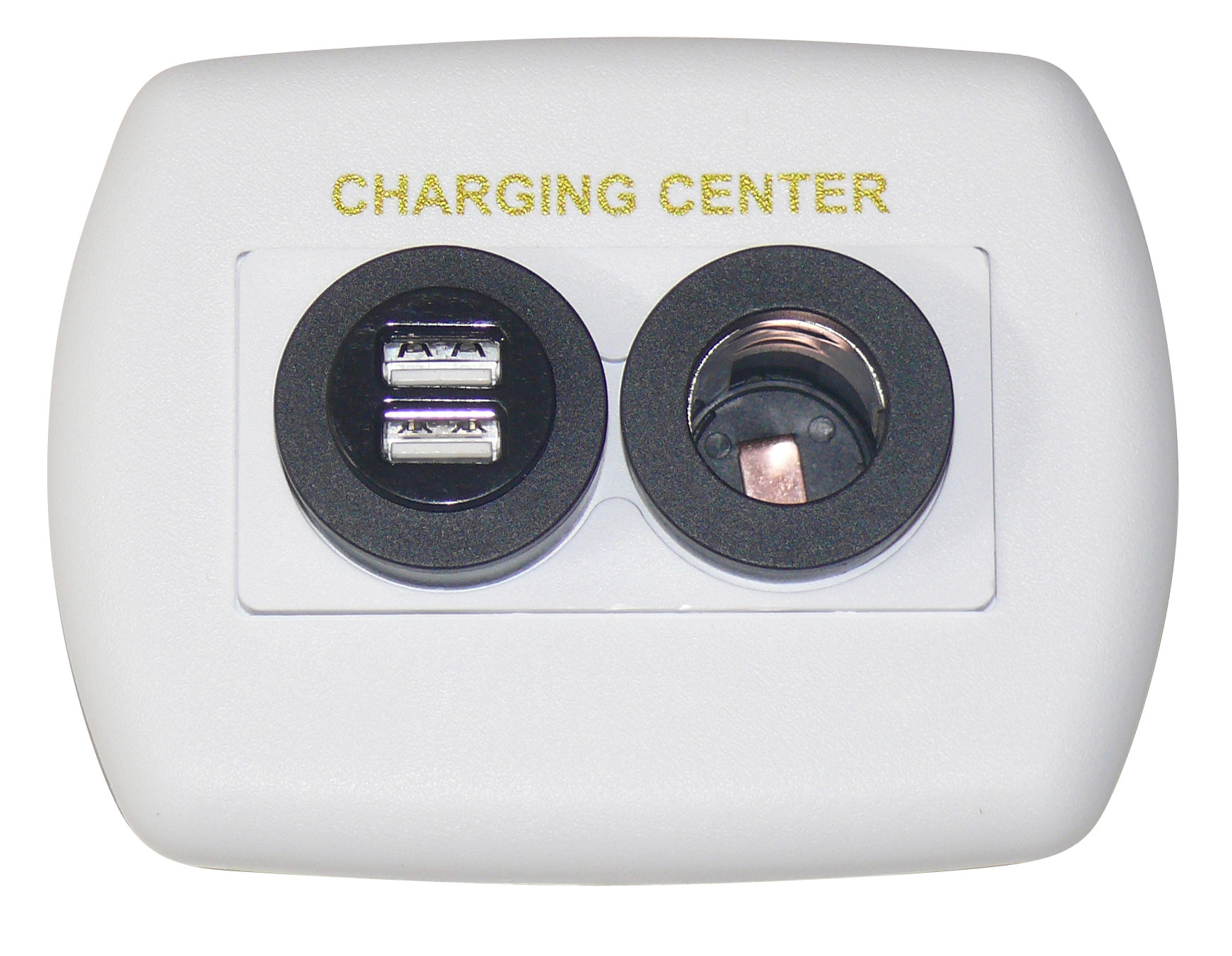Eurostyle USB Charging Center - White 61024USB