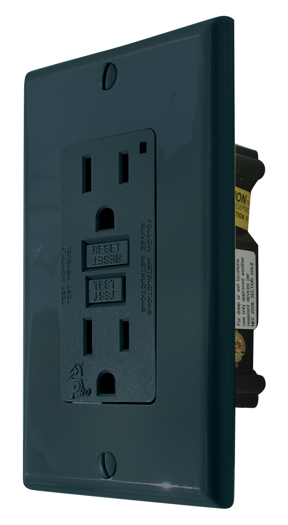GFI Receptacle - Black VGF15BK