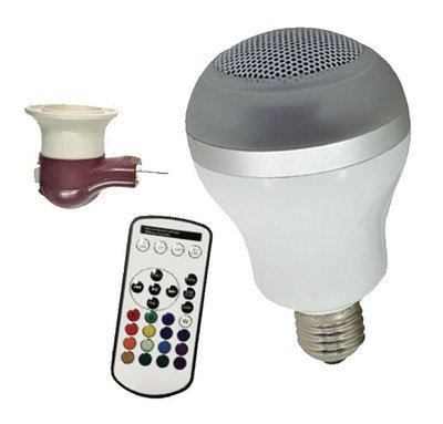 Multicolor LED Bluetooth Speaker Bulb