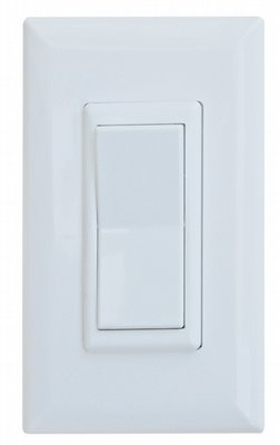 15 Amp Decor Rocker Switch With Cover - White