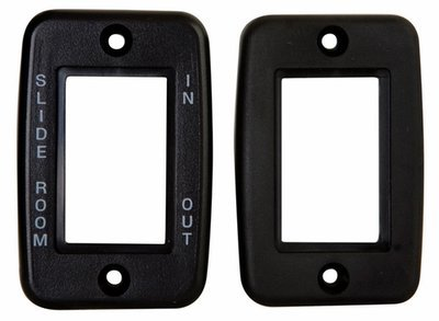 Exposed 5 Pin Side by Side Wall Plate - Black with Print