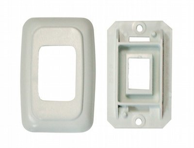 Single Base and Plate Contour Wall Plate Assembly - White