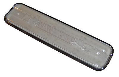 LED Fluorescent Replacement Fixture - 18 Inch Chrome Bezel