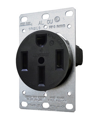 50A Receptacle with Plate
