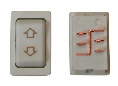 Contoured 5 Pin Side-By-Side Terminal Switch - White
