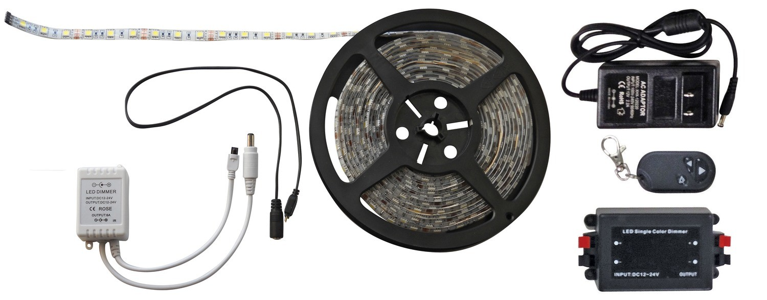 White 16 Foot LED Strip Light  with RF Remote