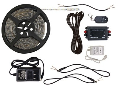 Bright White 16 Foot LED Strip Light Kit