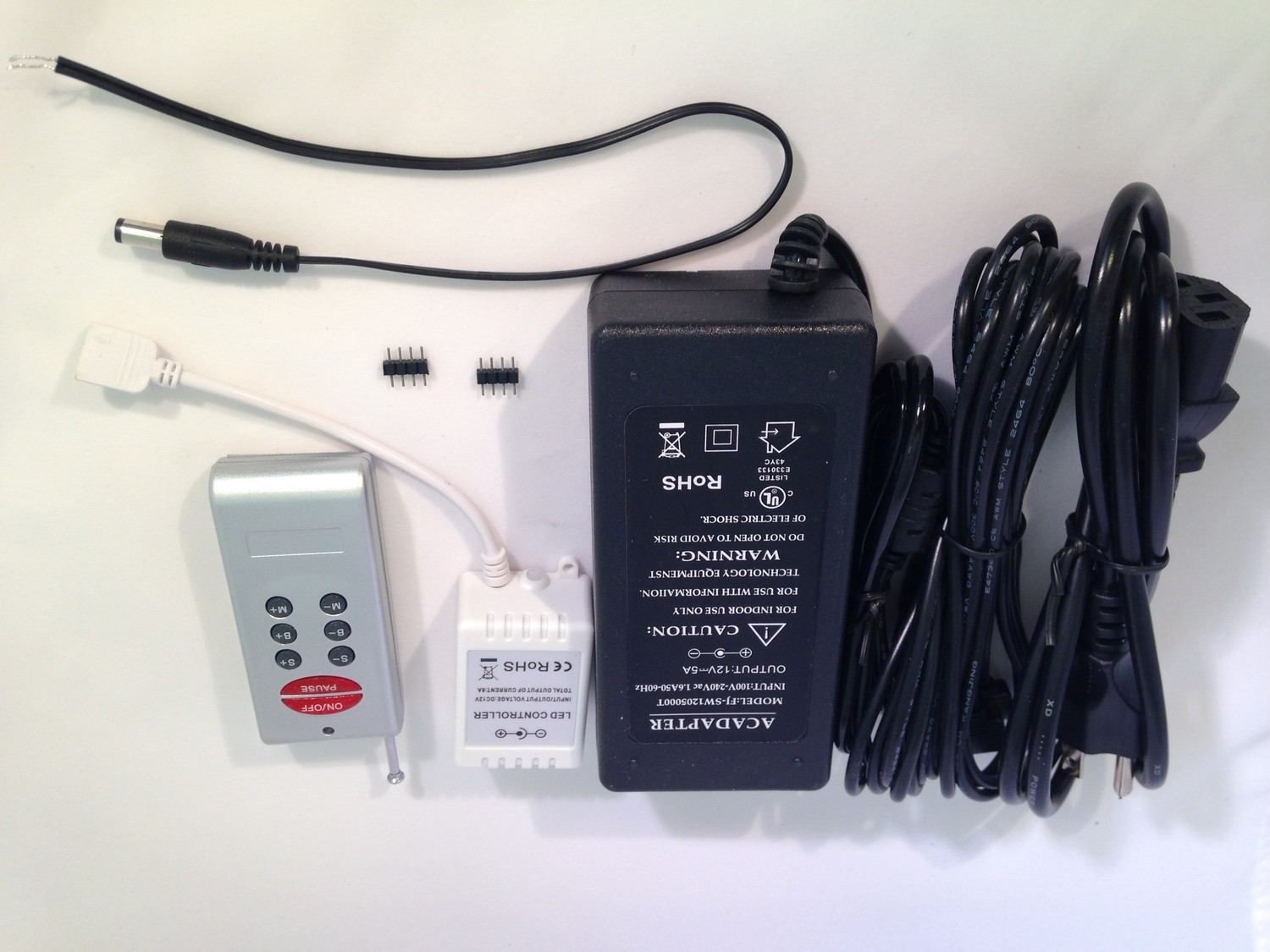 Power Supply Kit with Remote - RGB Strips