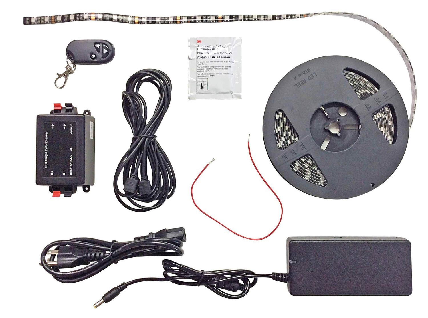 Black-Backed 16' LED Strip Light Kit - Blue Light Only