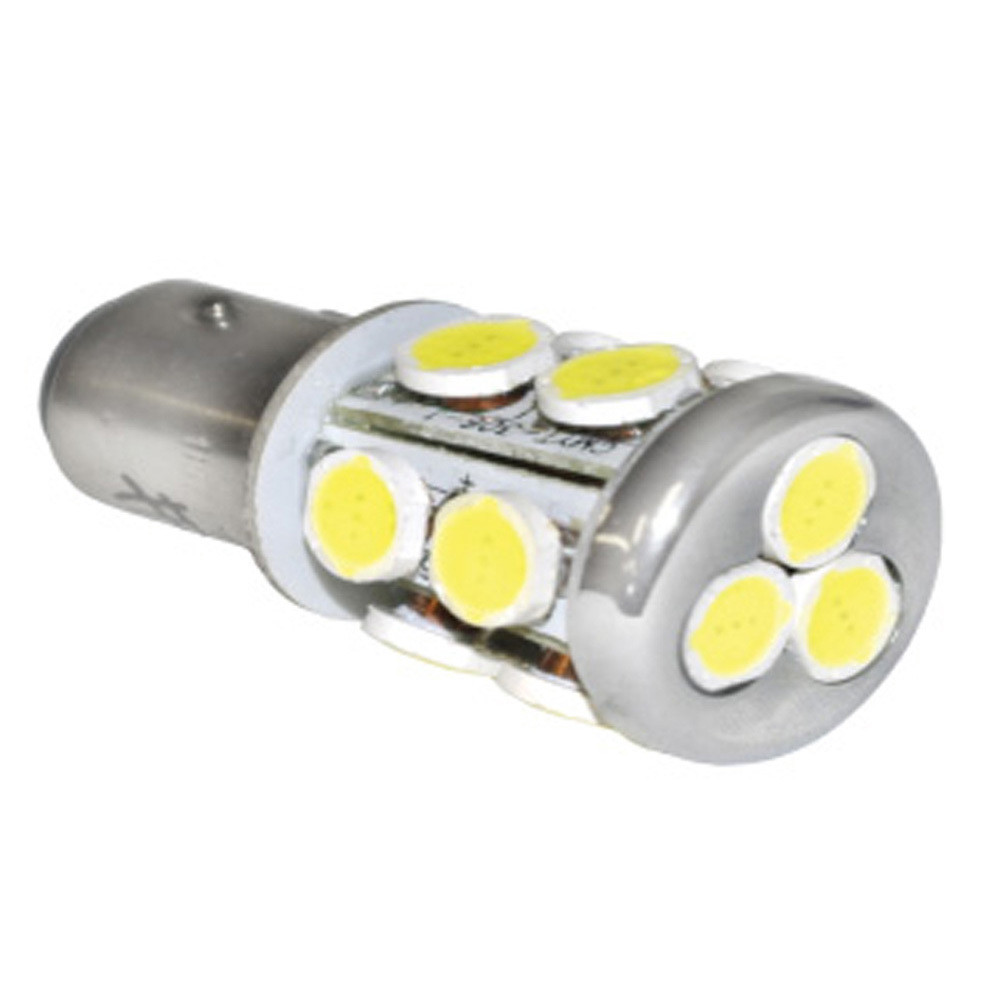 LED Bulb - 13 Diode Multidirectional Radial Tower BA15D Double Contact - Warm White