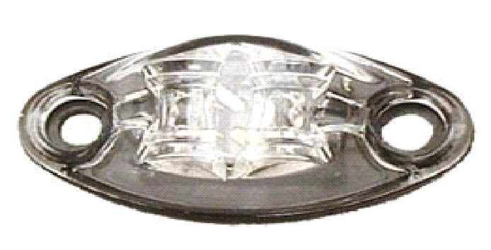 LED Exterior Light - 2 Diode 2 Wire Marker Light Clear/Red