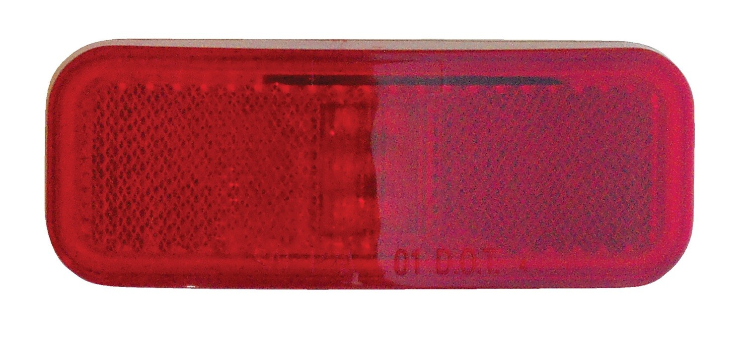 "Weatherproof LED 4"" x 1.5"" Marker Light with Reflector - Red"