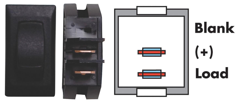 On/Off Switch - Black 3/bag