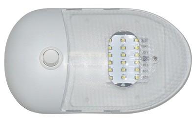 Slim Line Single LED Dome Light - Warm White