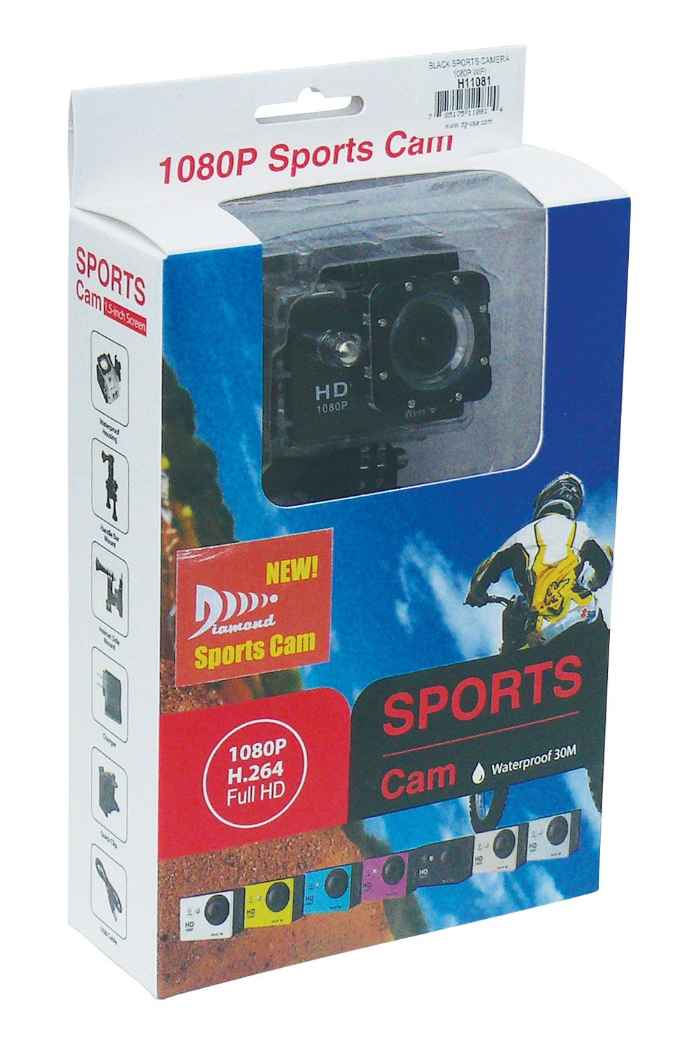 Portable Action Camera - Black Body