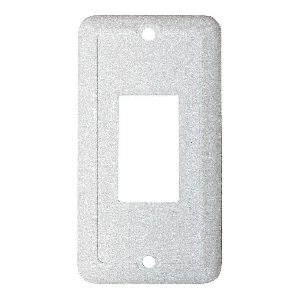 Face Plate for Slide-Out and Waterproof Switch - White 1/card