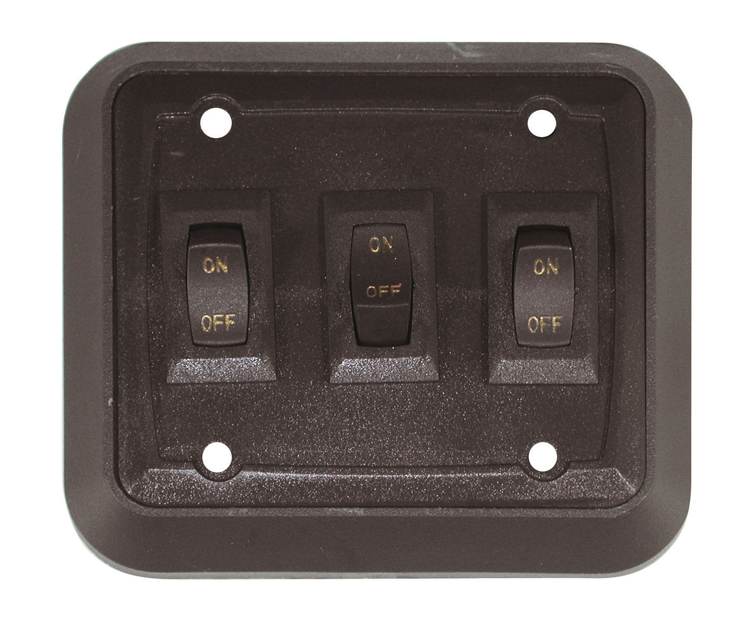 Wall Plate with Switch - Black/Black Triple