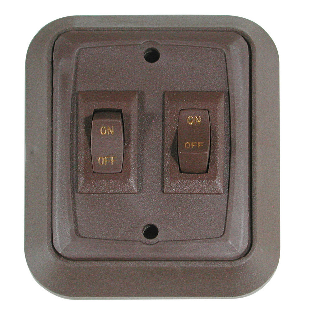 Wall Plate with Switch - Brown/Brown Double