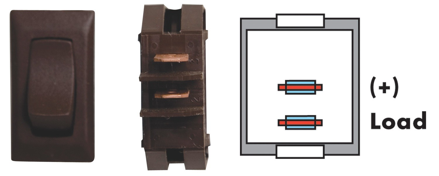 Momentary On/Off Switch - Brown 1/card