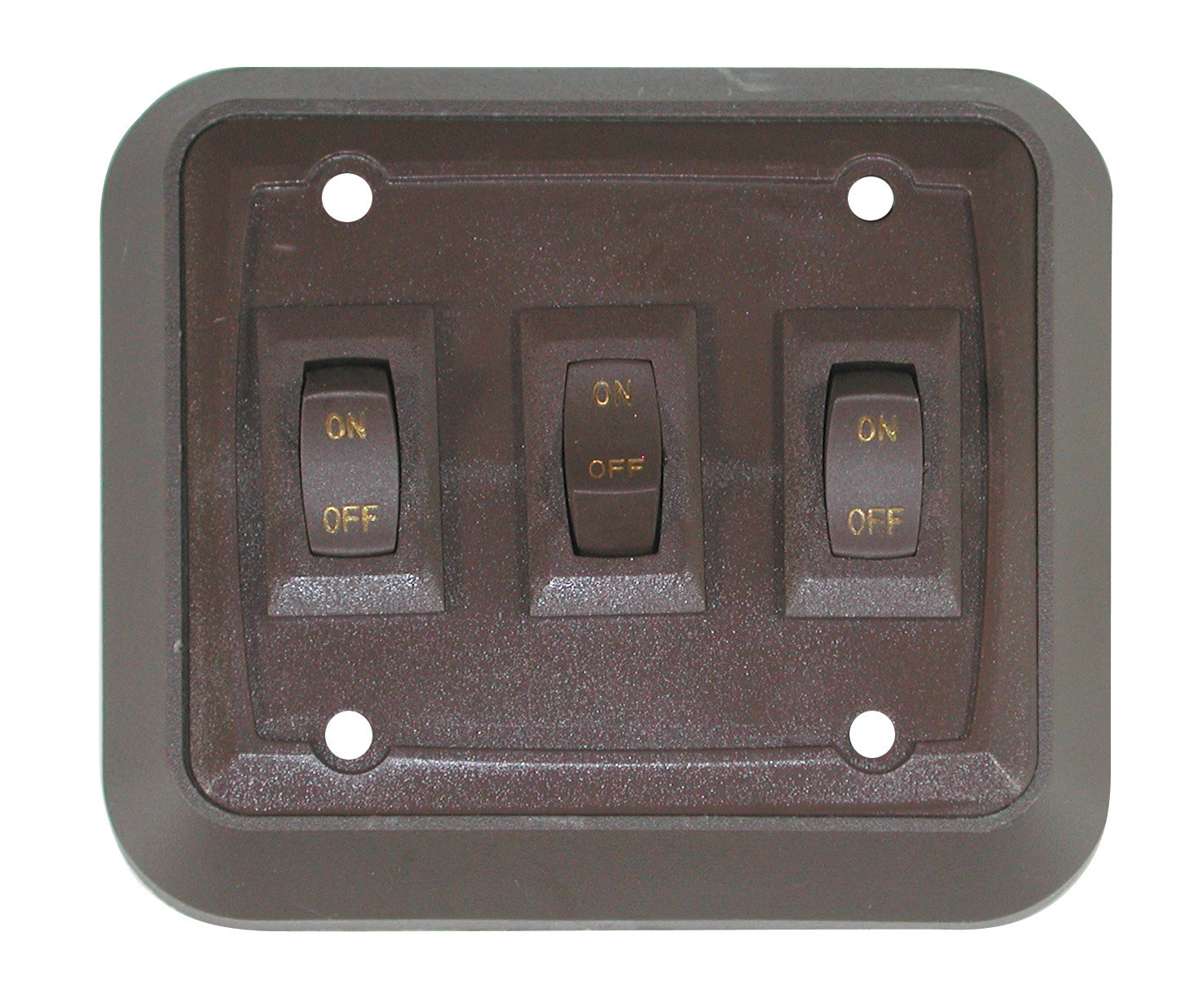 Wall Plate with Switch - White/White Triple