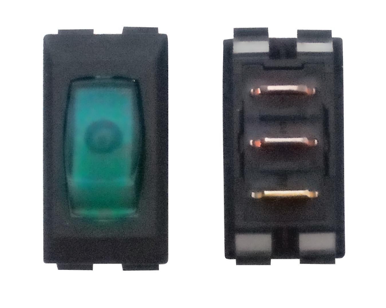 Illuminated On/Off Switch - Green/Black 1/card