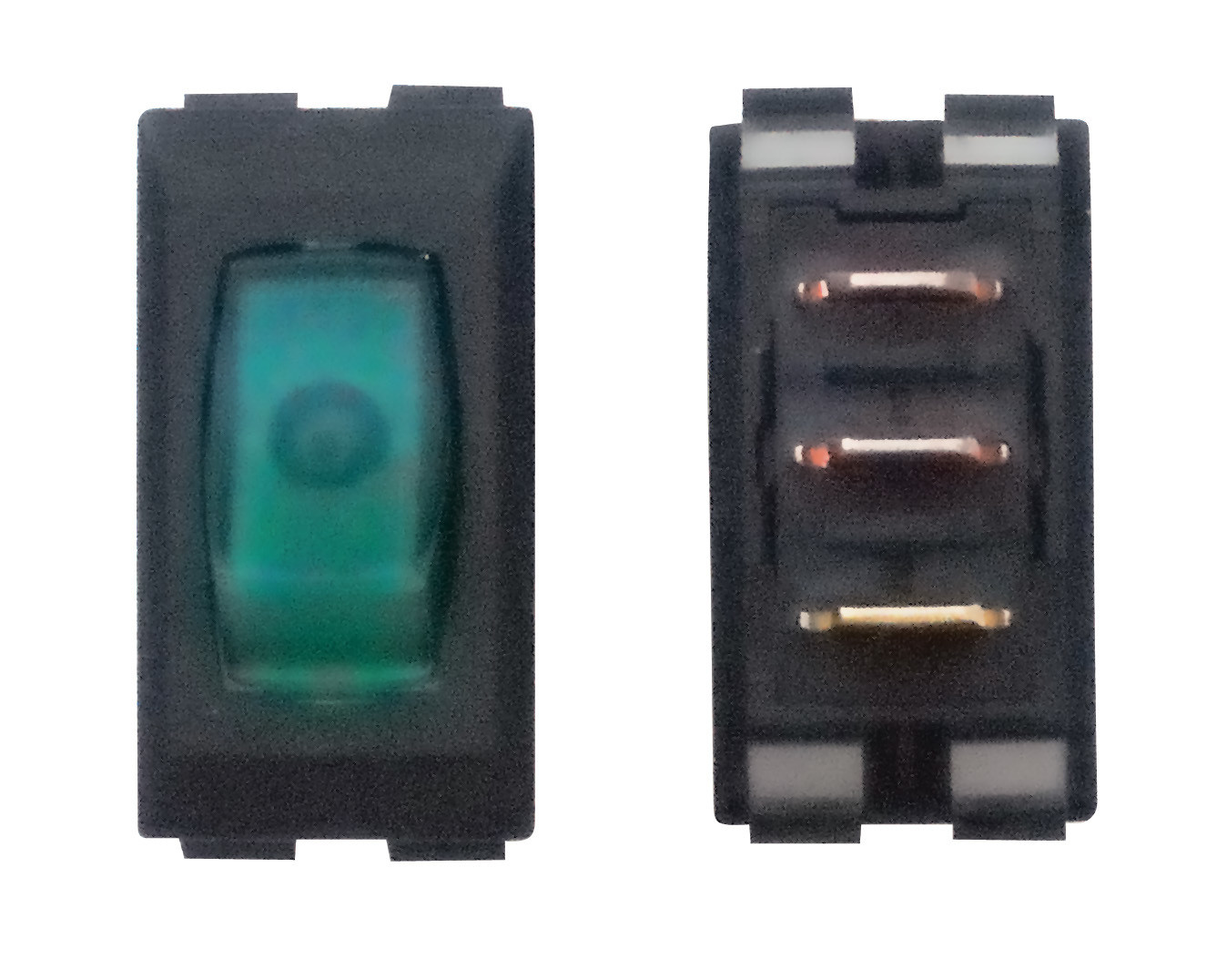 Illuminated On/Off Switch - Green/Black 3/bag