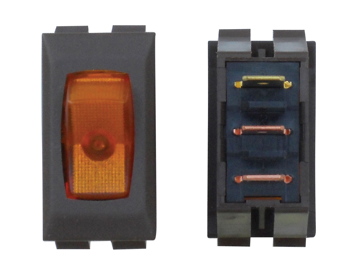 Illuminated On/Off Switch - Amber/Brown 1/card