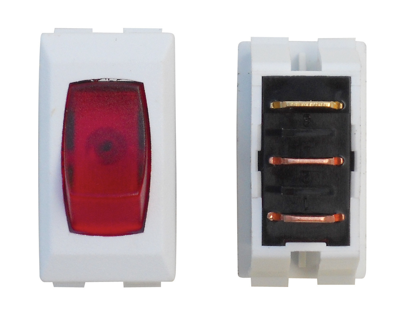 Illuminated On/Off Switch - Red/White 3/bag