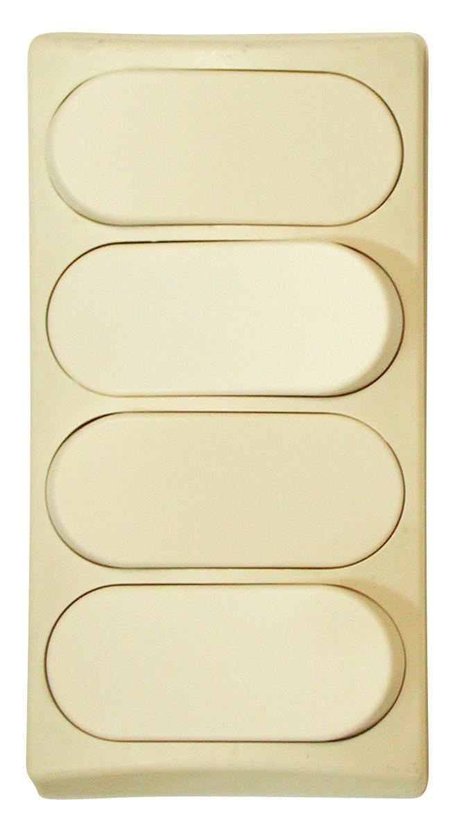 Designer Wall Plate - Ivory Quad