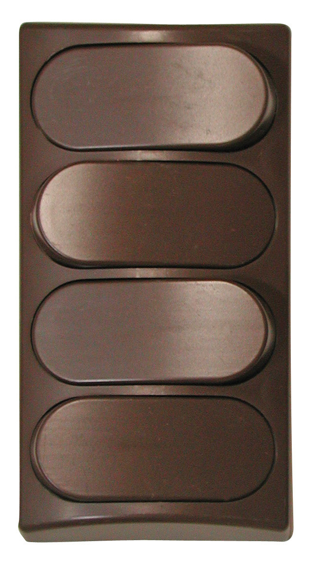 Designer Wall Plate - Brown Quad