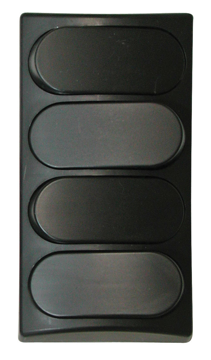 Designer Wall Plate - Black Quad